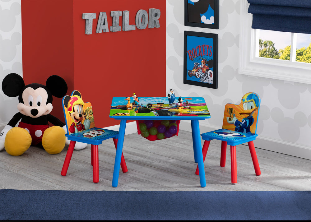 Delta Children Mickey Mouse Table and Chair Set, Room Shot a1a