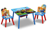 Delta Children Mickey Mouse Table and Chair Set, Right View Closed a3a