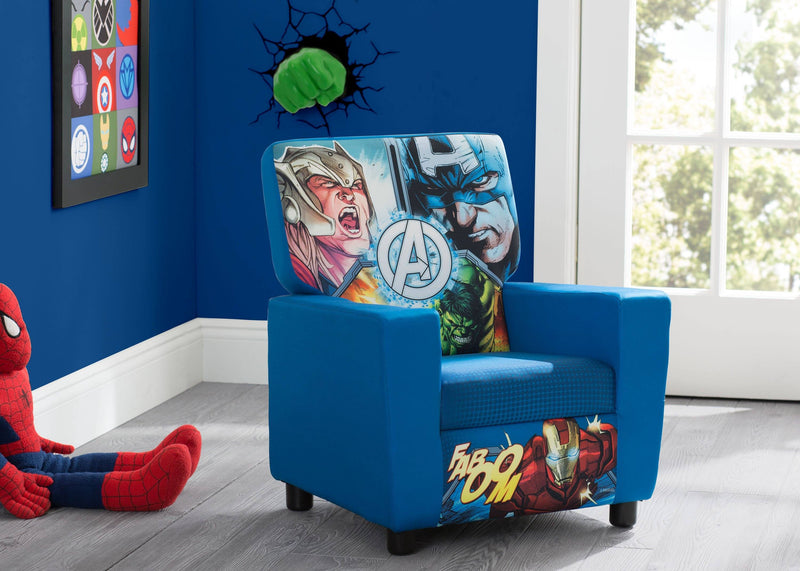 Outstanding Marvel Avengers Upholstered Twin Bed Delta Children Pabps2019 Chair Design Images Pabps2019Com
