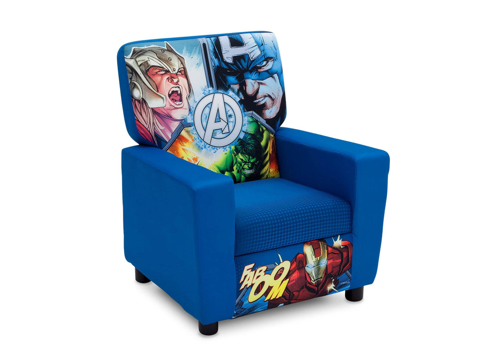 Delta Children Avengers (1160) High Back Upholstered Chair, Right Angle, a1a