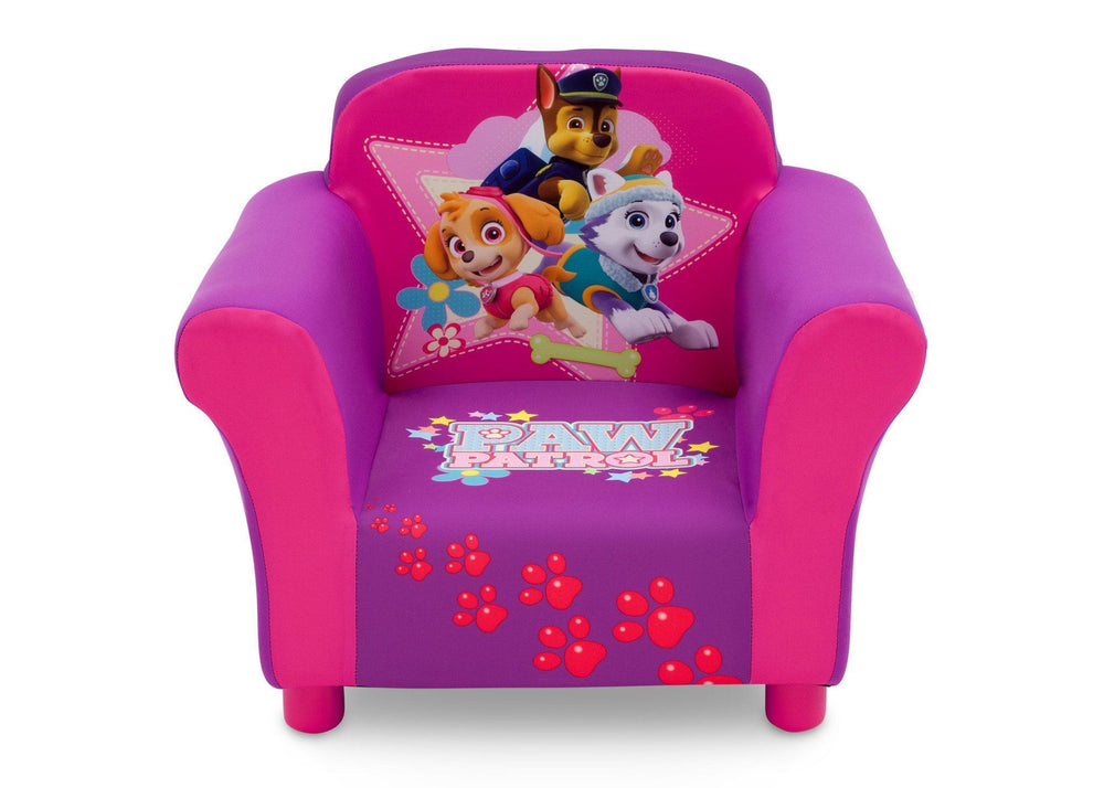 Delta Children PAW Patrol - Skye & Everest - Upholstered Chair, Front View, a3a