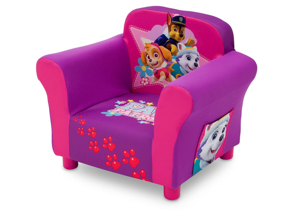 Delta Children PAW Patrol - Skye & Everest - Upholstered Chair, Left View, a2a