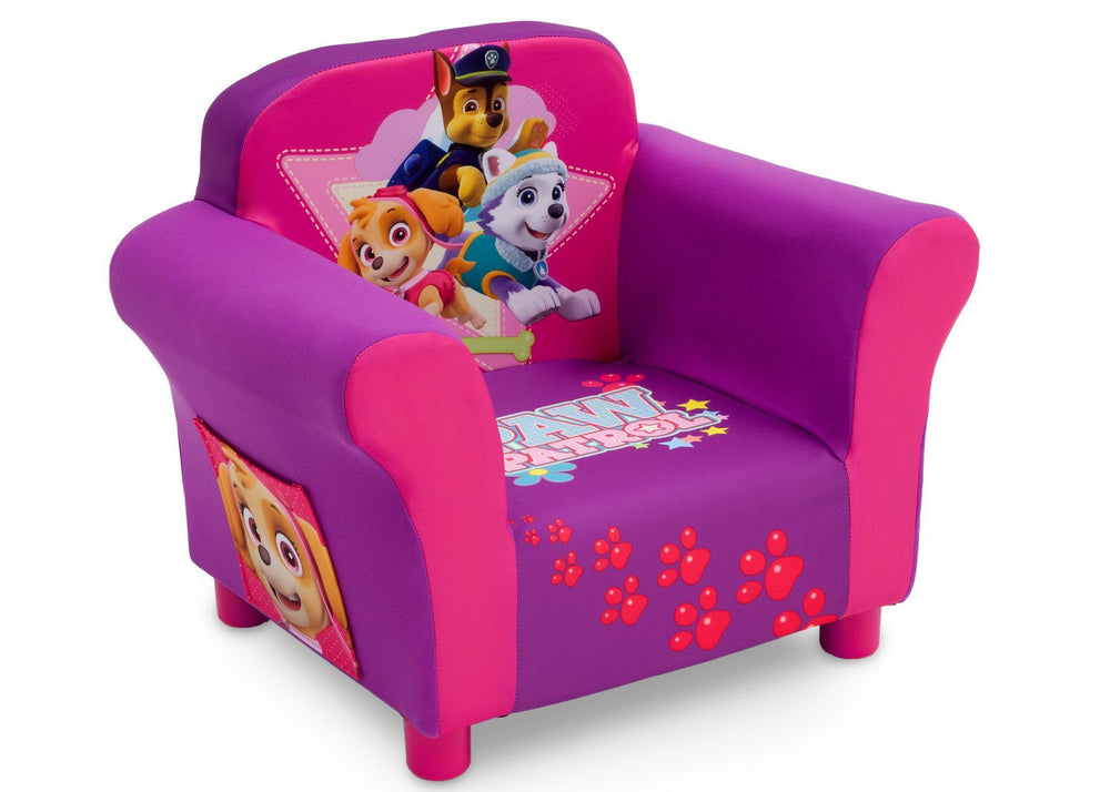 Delta Children PAW Patrol - Skye & Everest - Upholstered Chair, Right View, a1a
