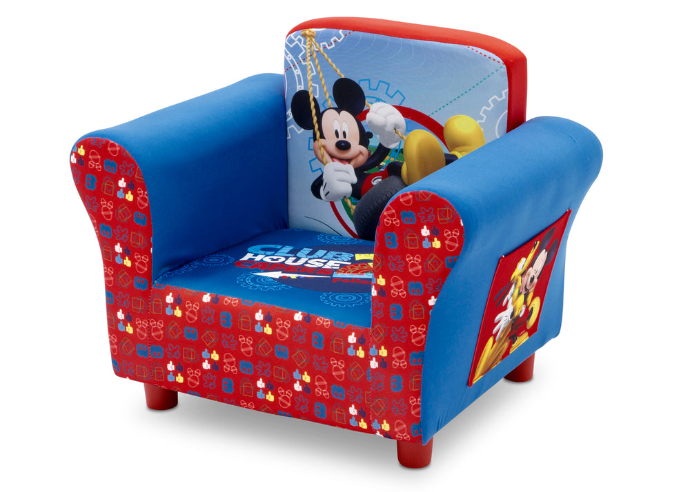 Delta Children Mickey Mouse Upholstered Chair, Left Side View a2a