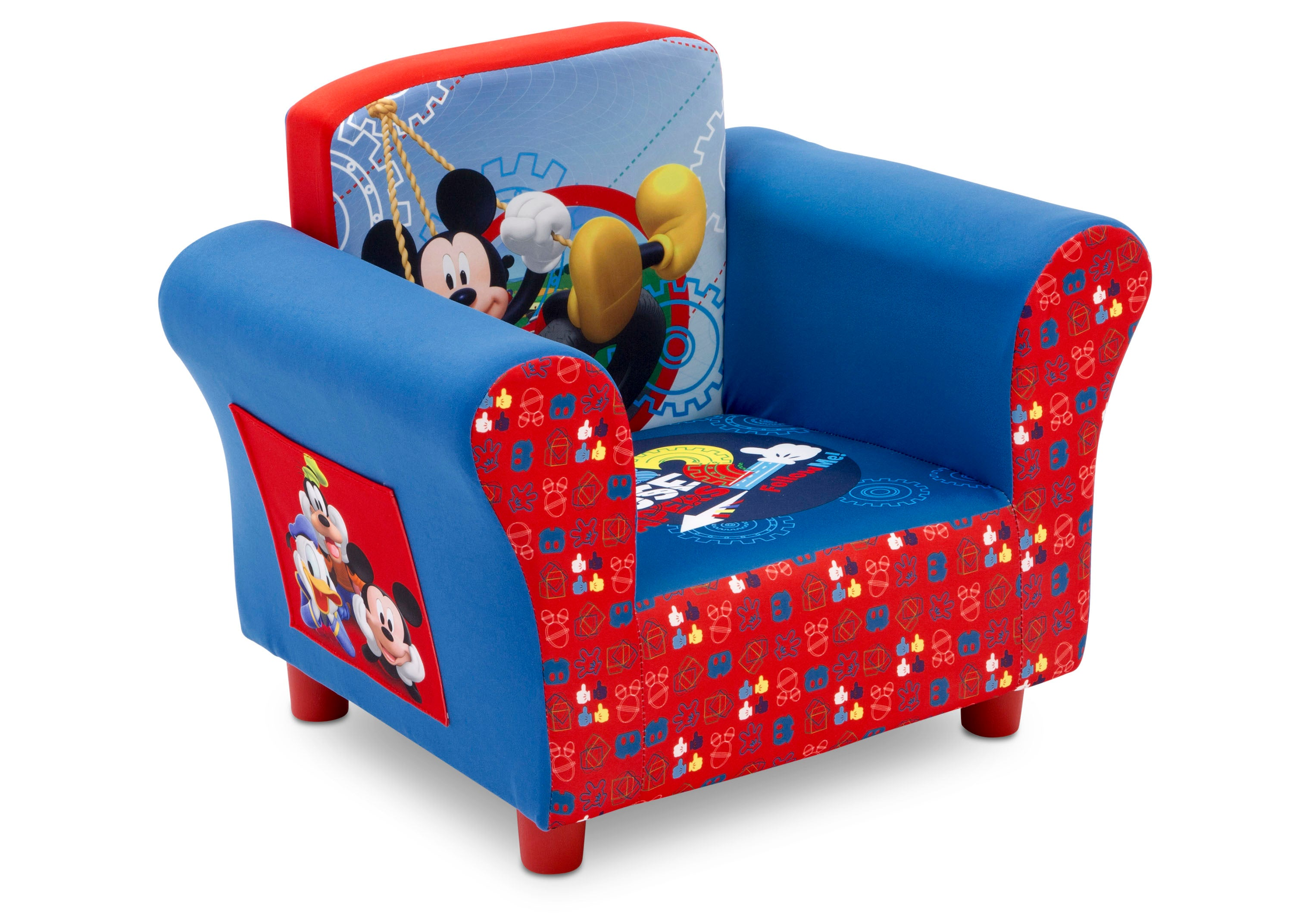 Delta Children Mickey Mouse Upholstered Chair, Right Side View A1a ...