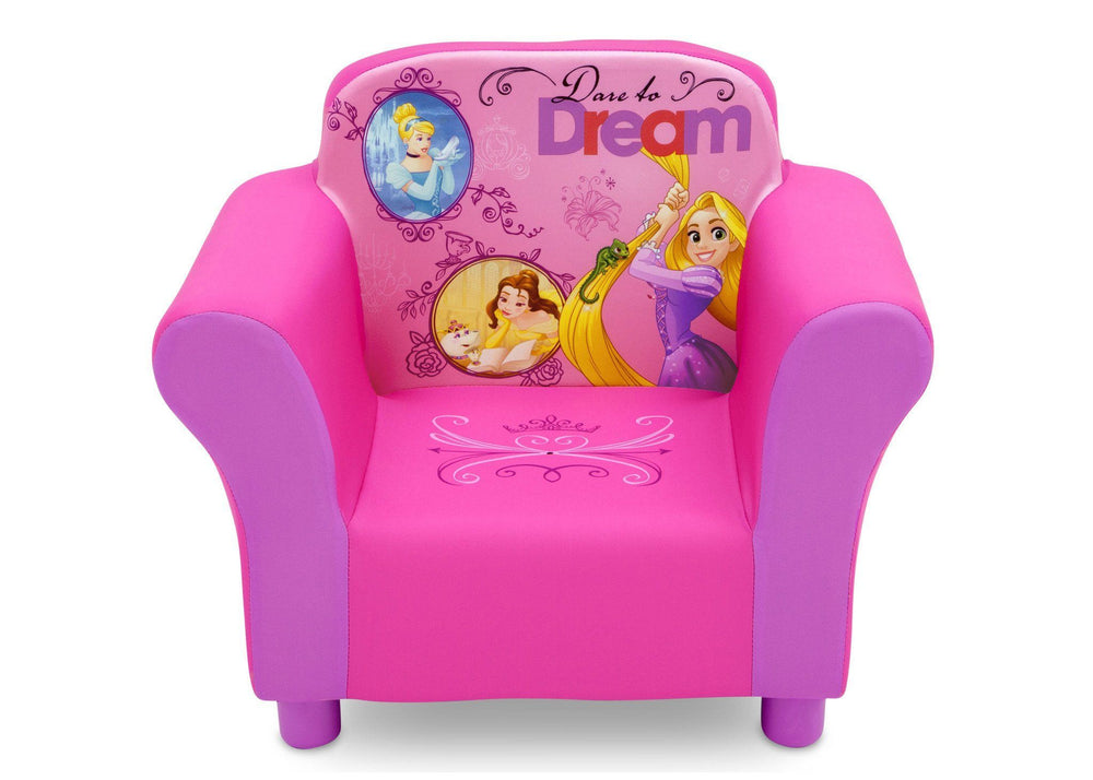 Delta Children Princess Upholstered Chair, Front View a3a