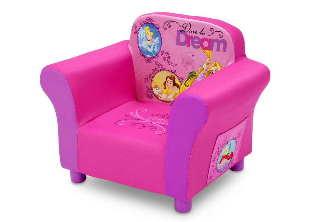 Delta Children Princess Upholstered Chair, Left Side View a2a