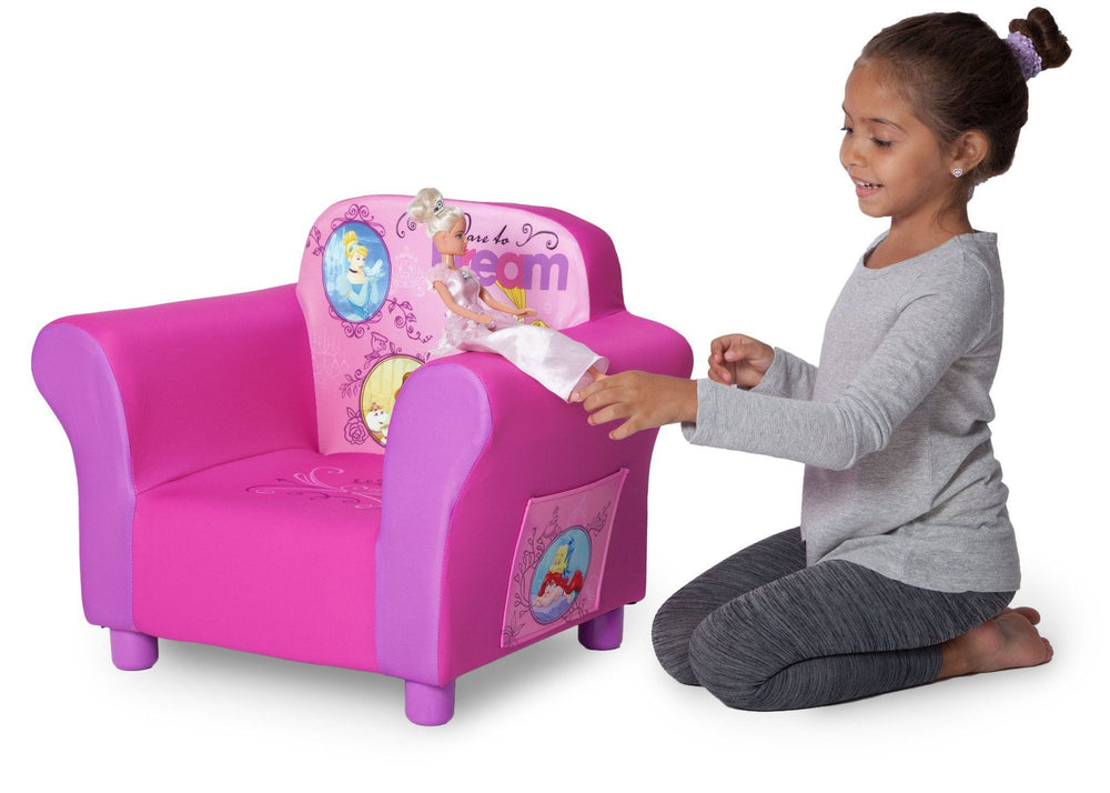 Delta Children Princess Upholstered Chair, Lifestyle a4a