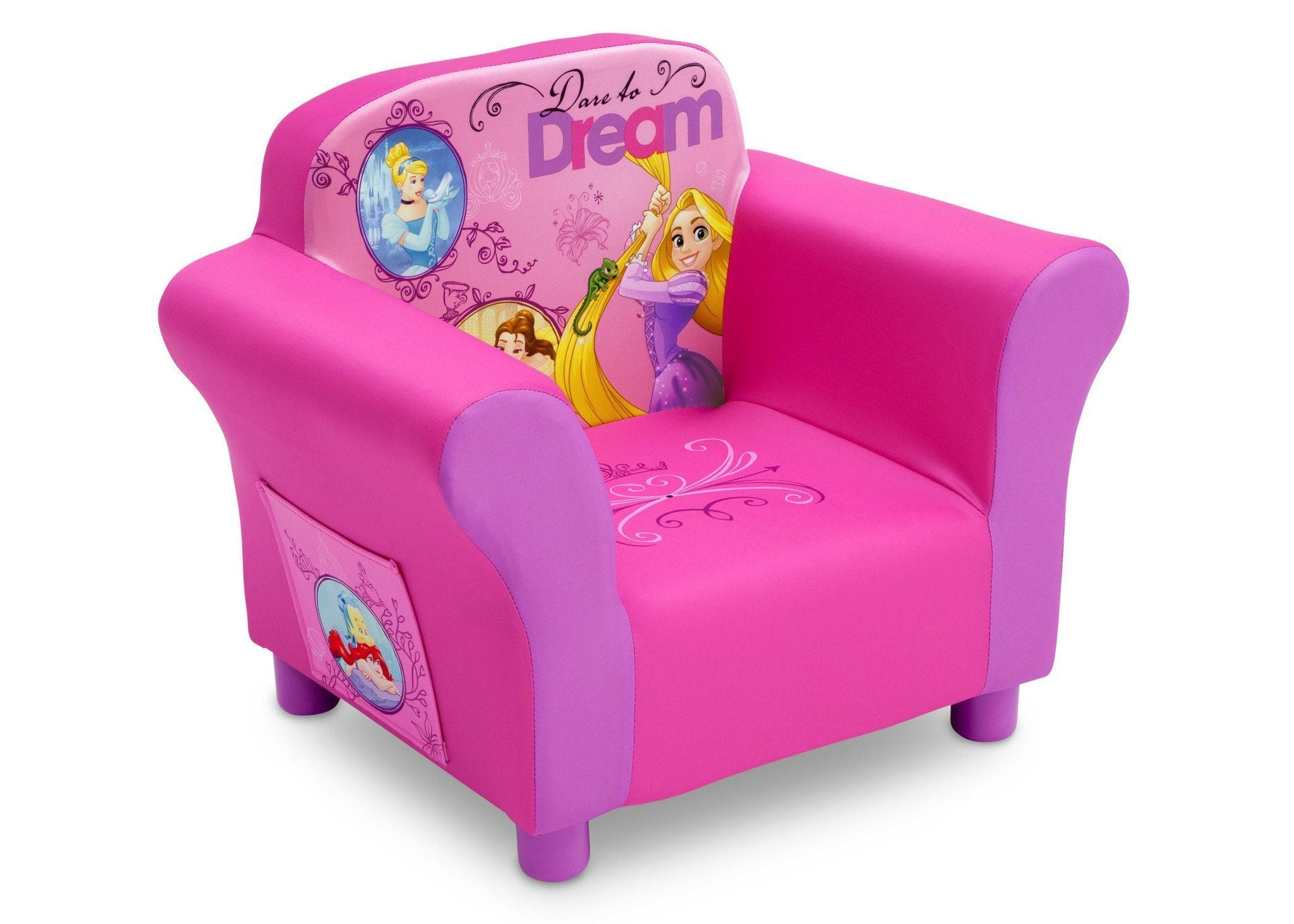 Merveilleux Delta Children Princess Upholstered Chair, Right Side View A1a ...