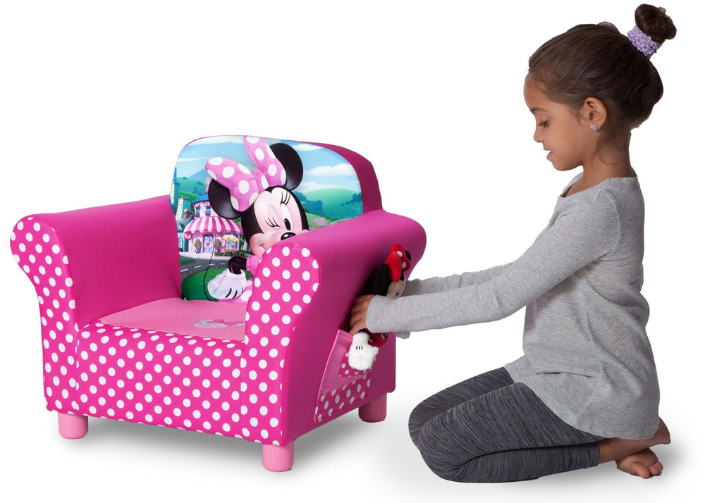 Delta Children Minnie Mouse Upholstered Chair, Lifestyle, a4a