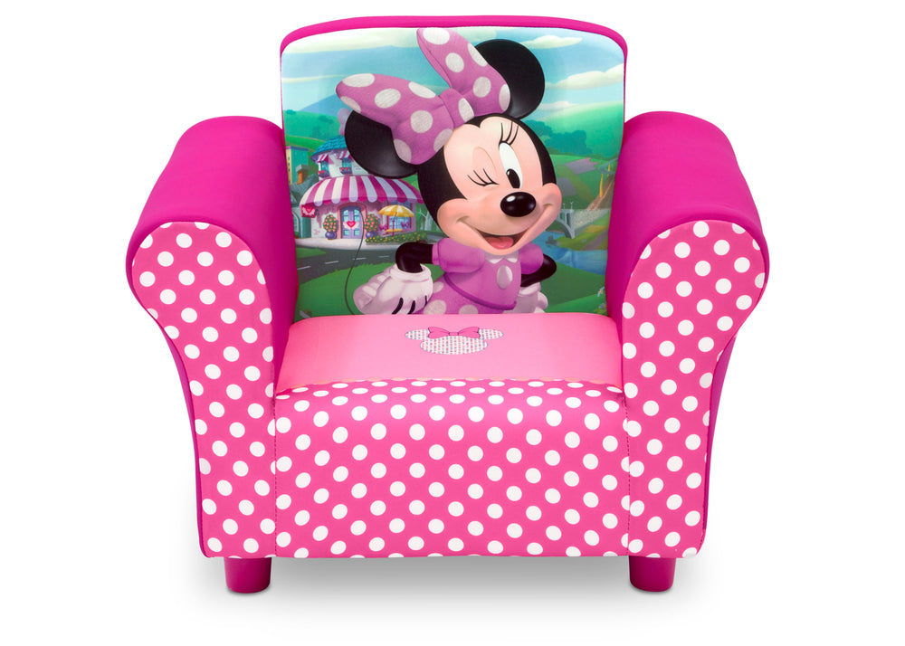Delta Children Minnie Mouse Upholstered Chair, Front View, a3a