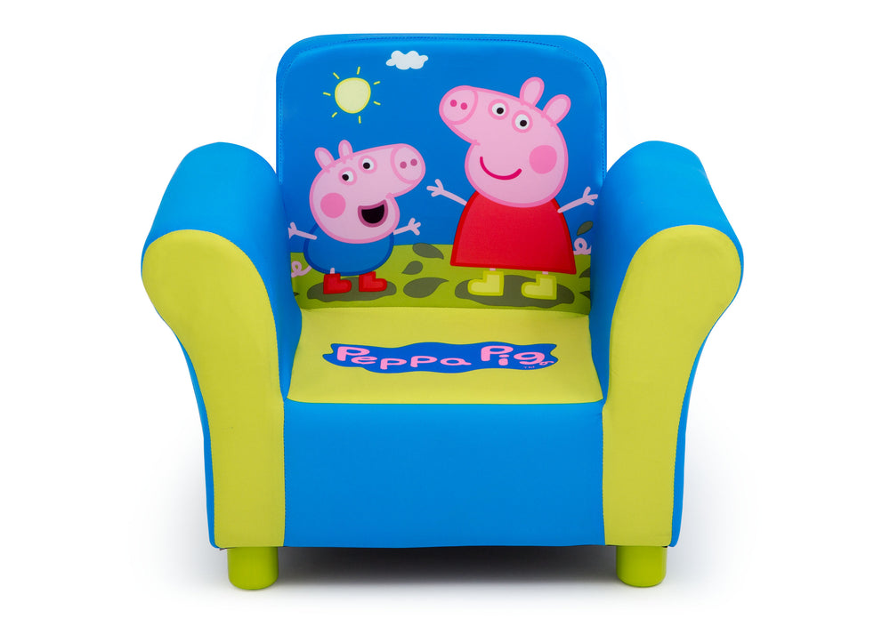 Delta Children Peppa Pig Upholstered Chair, Front Silo View
