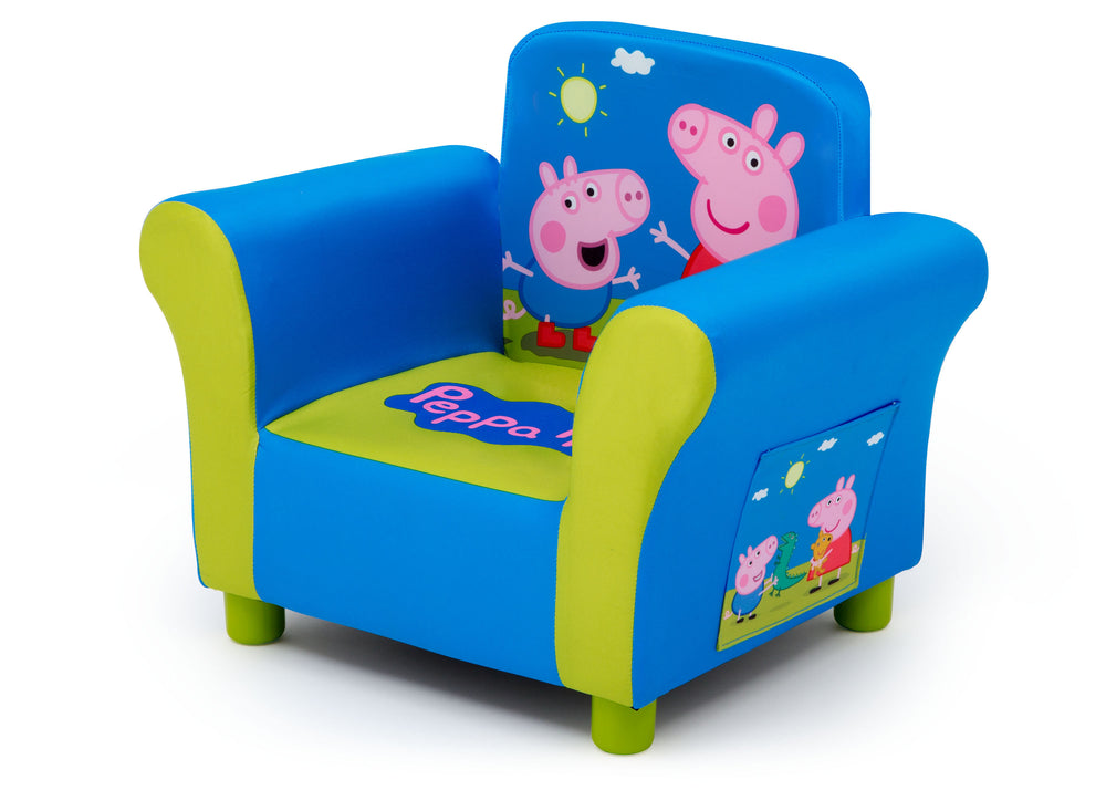 Delta Children Peppa Pig Upholstered Chair, Left Silo View