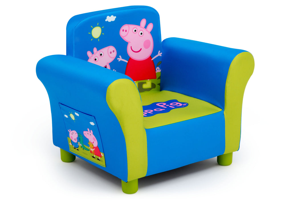 Delta Children Peppa Pig Upholstered Chair, Right Silo View