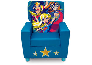 Delta Children DC Super Hero Girls (1205) High Back Upholstered Chair, Front, a3a