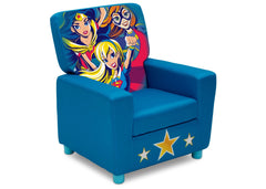 Delta Children DC Super Hero Girls (1205) High Back Upholstered Chair, Right Angle, a1a