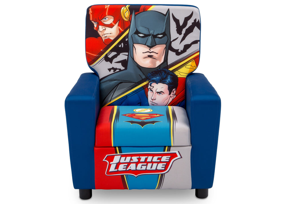 Delta Children Justice League (1215) High Back Upholstered Chair, Front, a4a