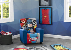 Delta Children Justice League (1215) High Back Upholstered Chair, Room Shot, a4a
