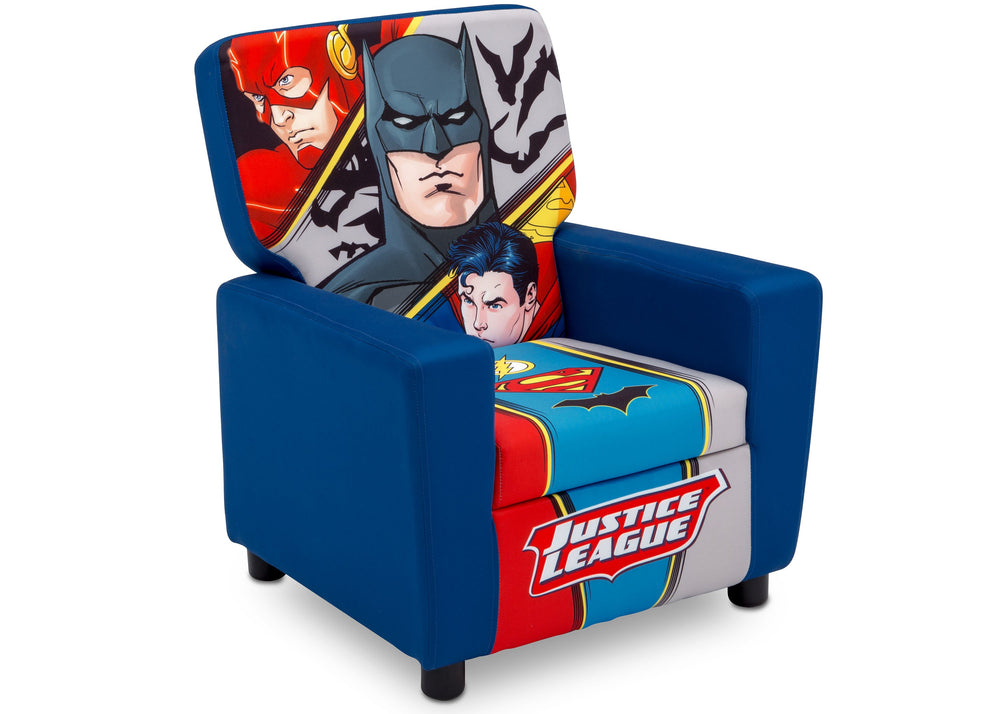 Delta Children Justice League (1215) High Back Upholstered Chair, Right Angle, a2a