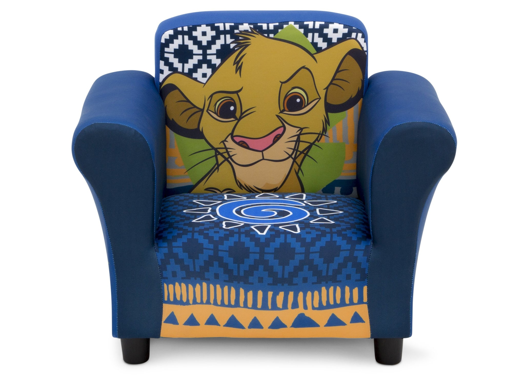 Delta Children The Lion King (1079) Kids Upholstered Chair, Front Silo View
