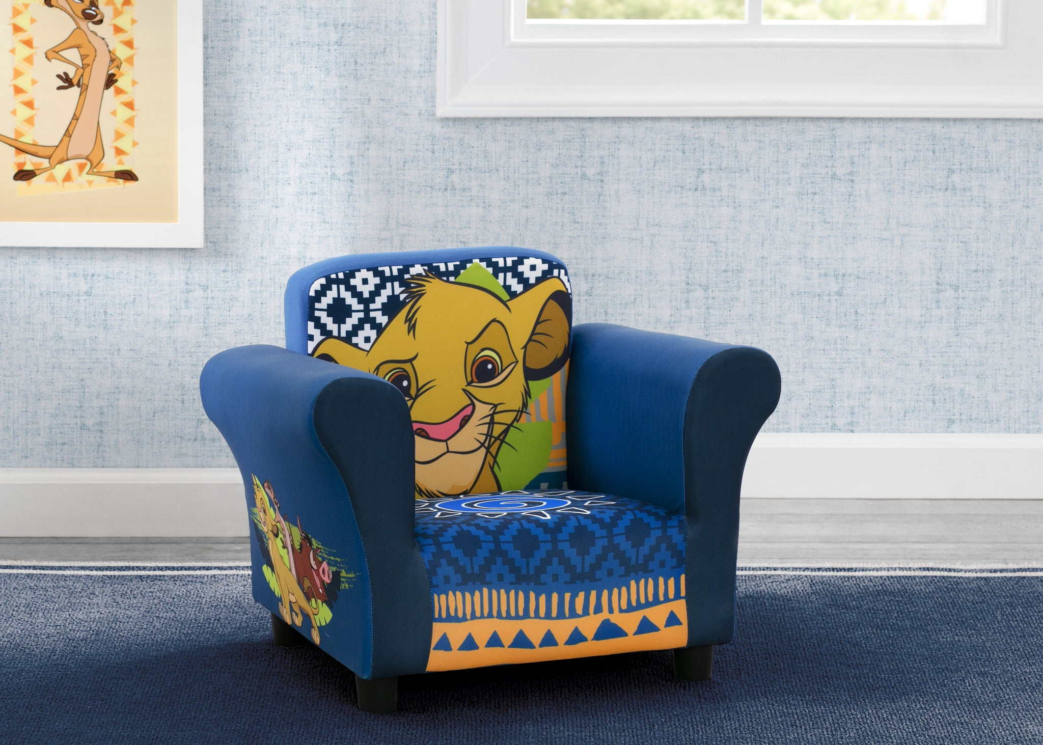 Delta Children The Lion King (1079) Kids Upholstered Chair, Hangtag View