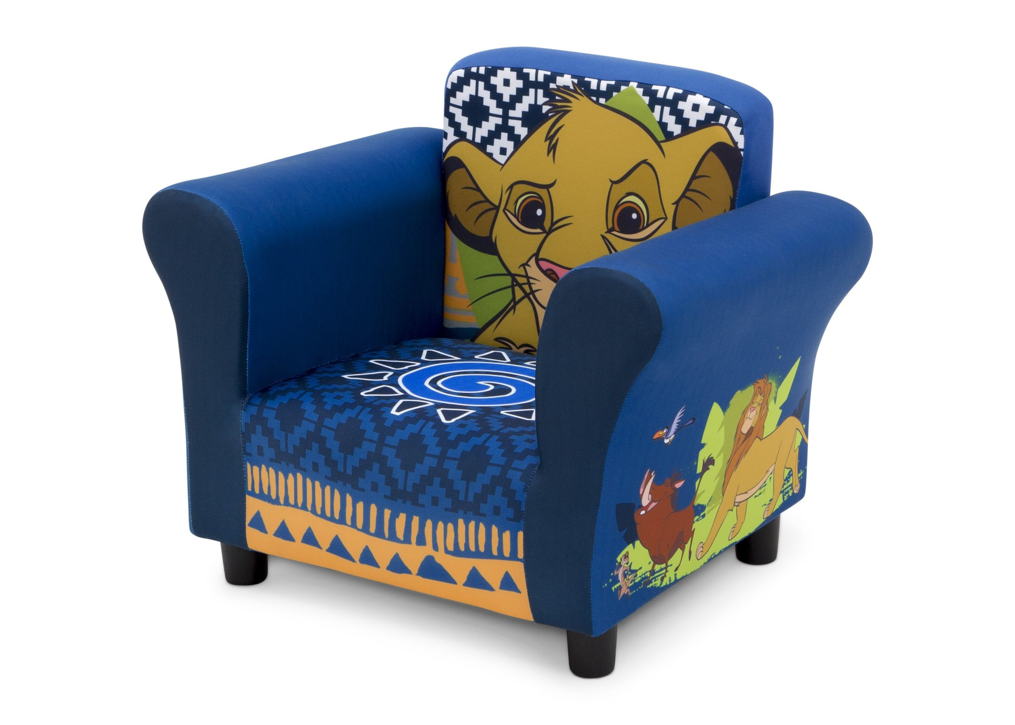 Delta Children The Lion King (1079) Kids Upholstered Chair, Left Silo View