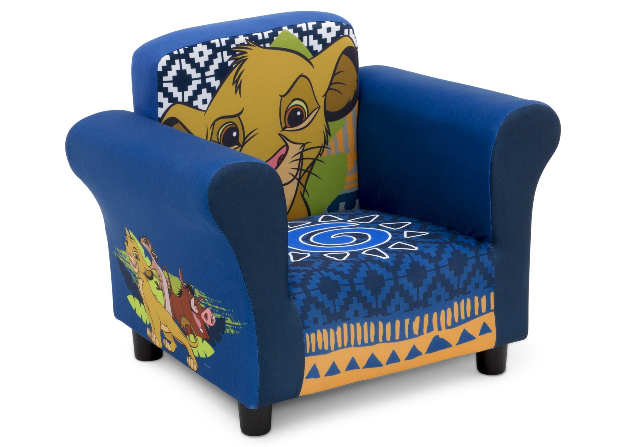 Delta Children The Lion King (1079) Kids Upholstered Chair, Right Silo View