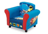 Delta Children Style 1 Super Friends (Superman | Batman | The Flash | Aquaman) Kids Upholstered Chair Left View a3a