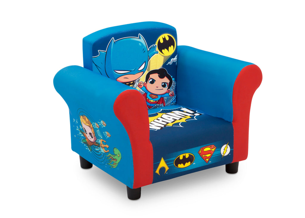 Admirable Super Friends Superman Batman The Flash Aquaman Kids Upholstered Chair Machost Co Dining Chair Design Ideas Machostcouk