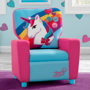 Delta Children JoJo Siwa Kids High Back Upholstered Chair, Hangtag View