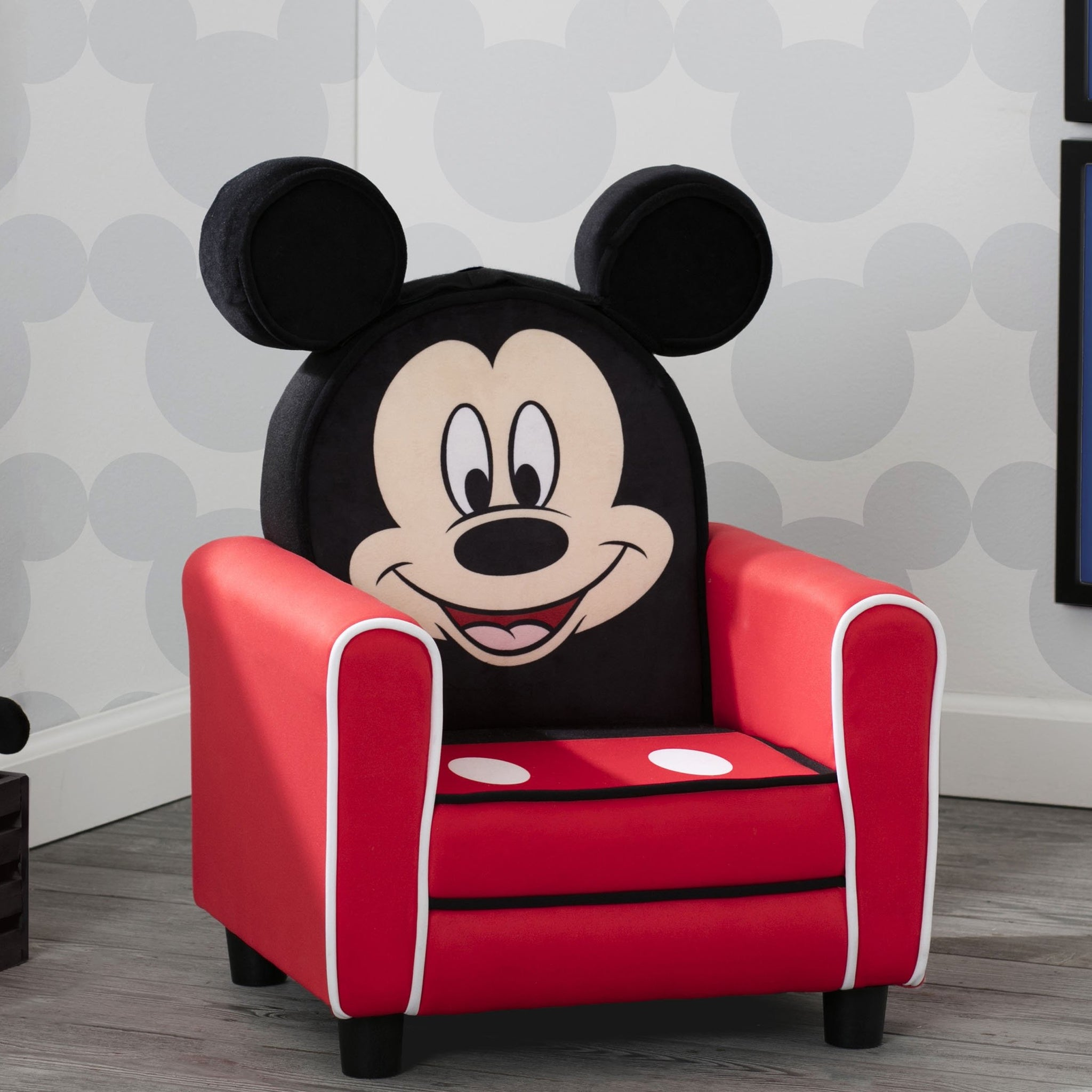 Mickey Mouse Figural Upholstered Kids Chair