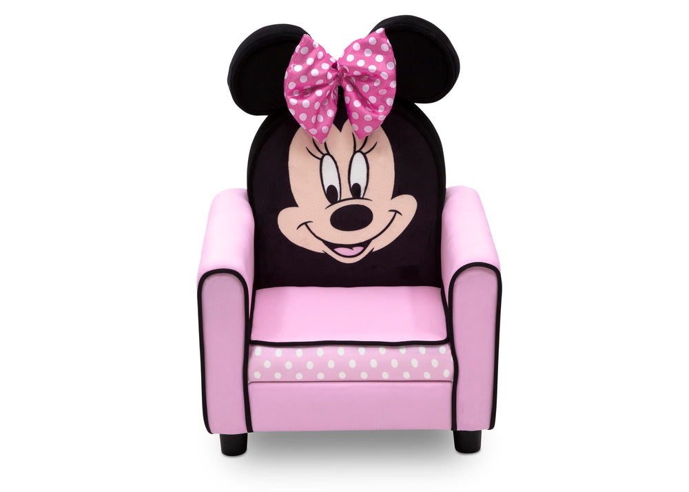 Delta Children Minnie Mouse Figural Upholstered Kids Chair Front View a2a