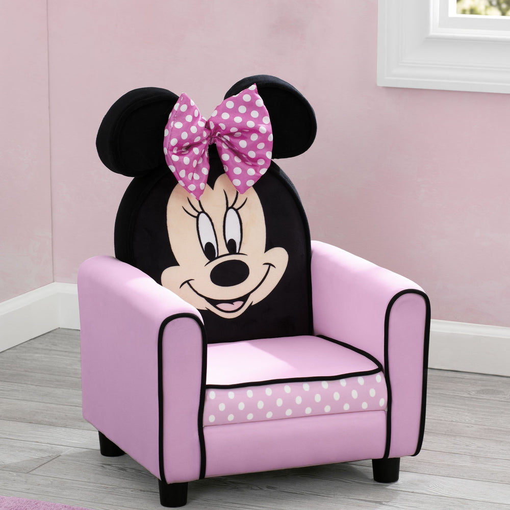 Delta Children Minnie Mouse Figural Upholstered Kids Chair Hangtag View a1a