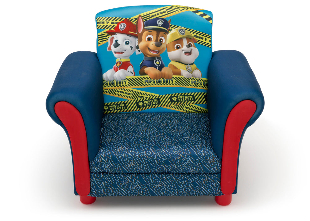 Delta Children PAW Patrol Kids Upholstered Chair Front Silo View a2a