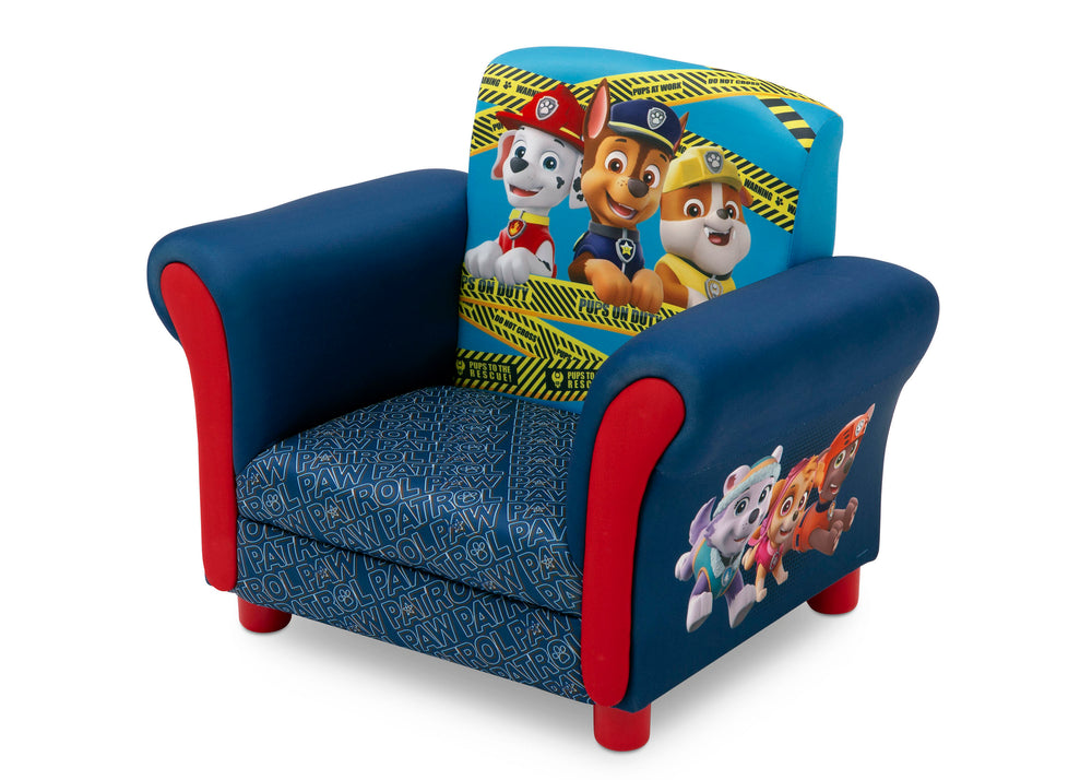 Delta Children PAW Patrol Kids Upholstered Chair Left Silo View a4a