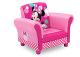 Delta Children Minnie Mouse Kids Upholstered Chair Right View a3a