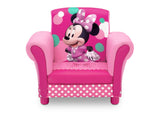 Delta Children Minnie Mouse Kids Upholstered Chair Front View a2a