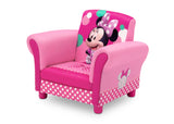 Delta Children Minnie Mouse Kids Upholstered Chair Left View a4a