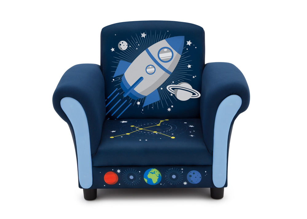 Delta Children Space Adventures (1223) Kids Upholstered Chair, Front Silo View