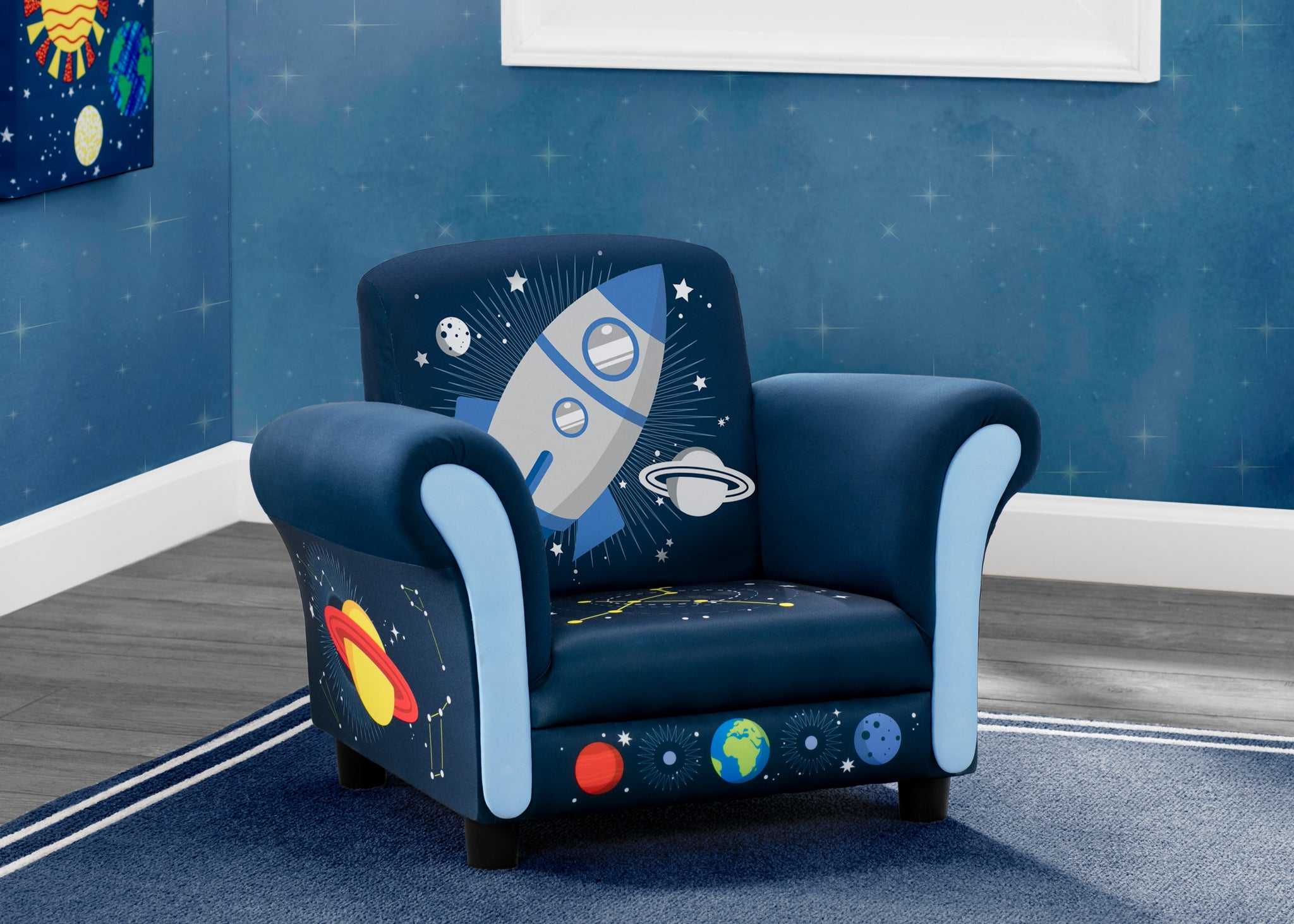 Delta Children Space Adventures (1223) Kids Upholstered Chair, Hangtag View