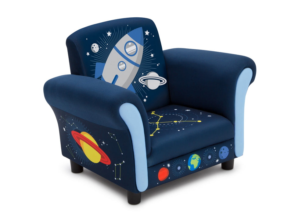 Delta Children Space Adventures (1223) Kids Upholstered Chair, Right Silo View