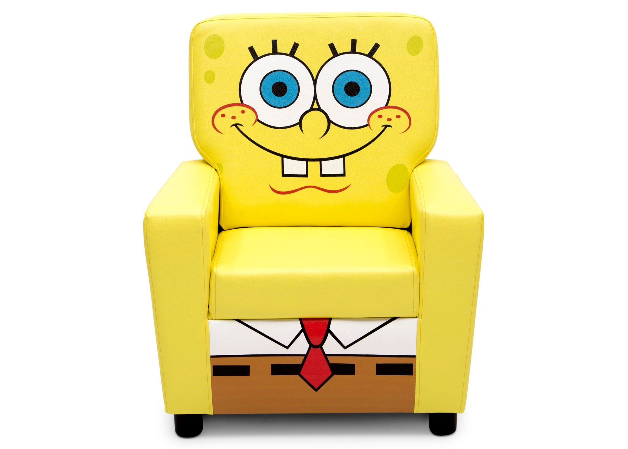 Delta Children SpongeBob (1112) SquarePants High Back Upholstered Chair, Front Silo View