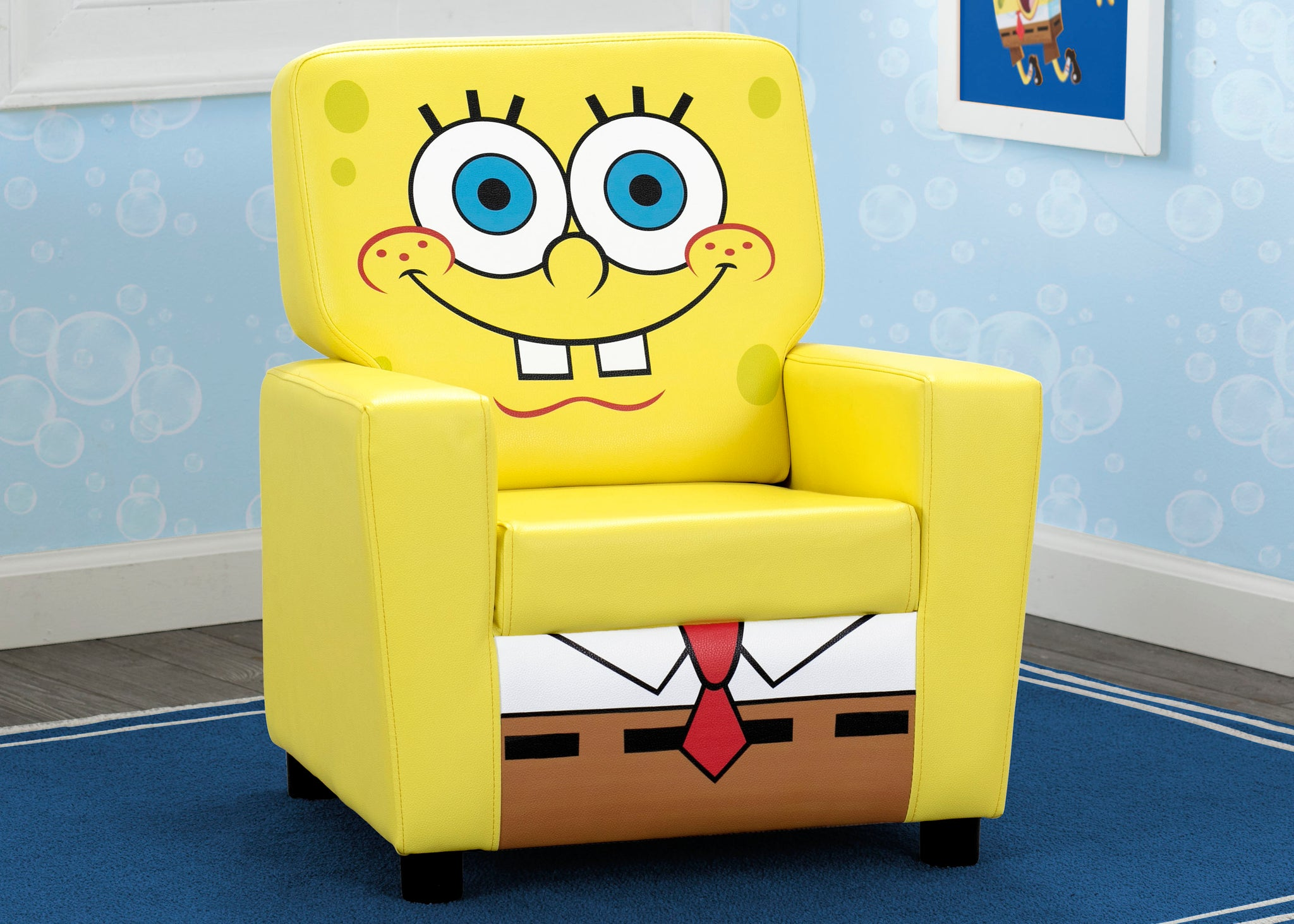 Delta Children SpongeBob (1112) SquarePants High Back Upholstered Chair, Hangtag View