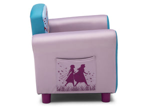 Delta Children Frozen 2 (1097) Upholstered Chair, Side Silo View