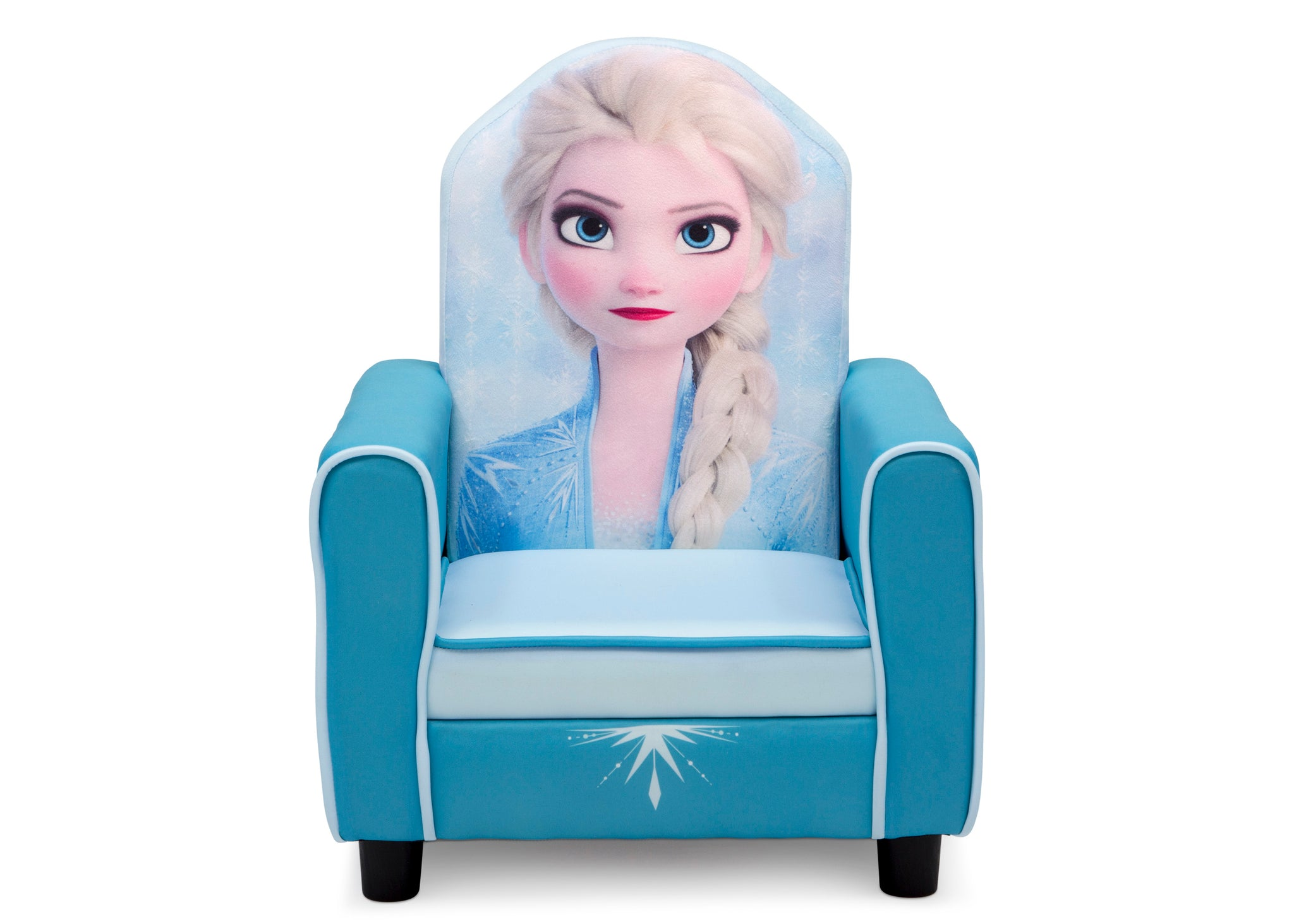 Delta Children Frozen II (1091) Elsa Figural Upholstered Kids Chair, Front Silo View Frozen (1091)