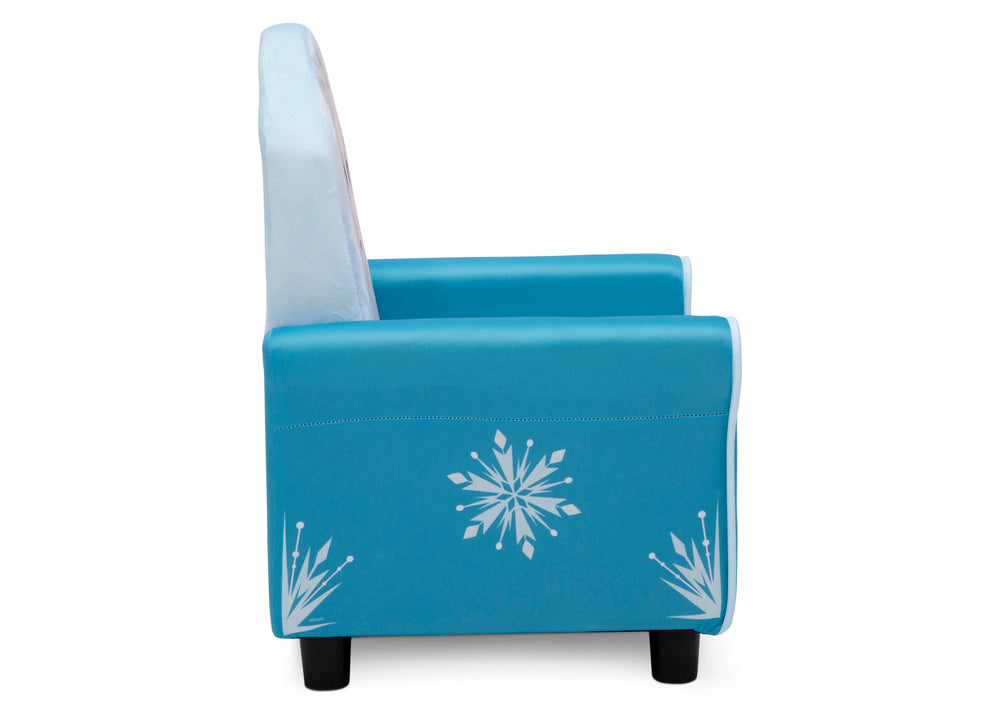 Delta Children Frozen II (1091) Elsa Figural Upholstered Kids Chair, Right Side Silo View