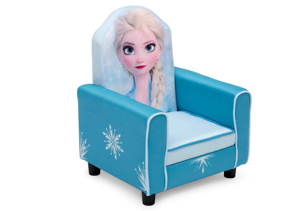 Delta Children Frozen II (1091) Elsa Figural Upholstered Kids Chair, Right Silo View
