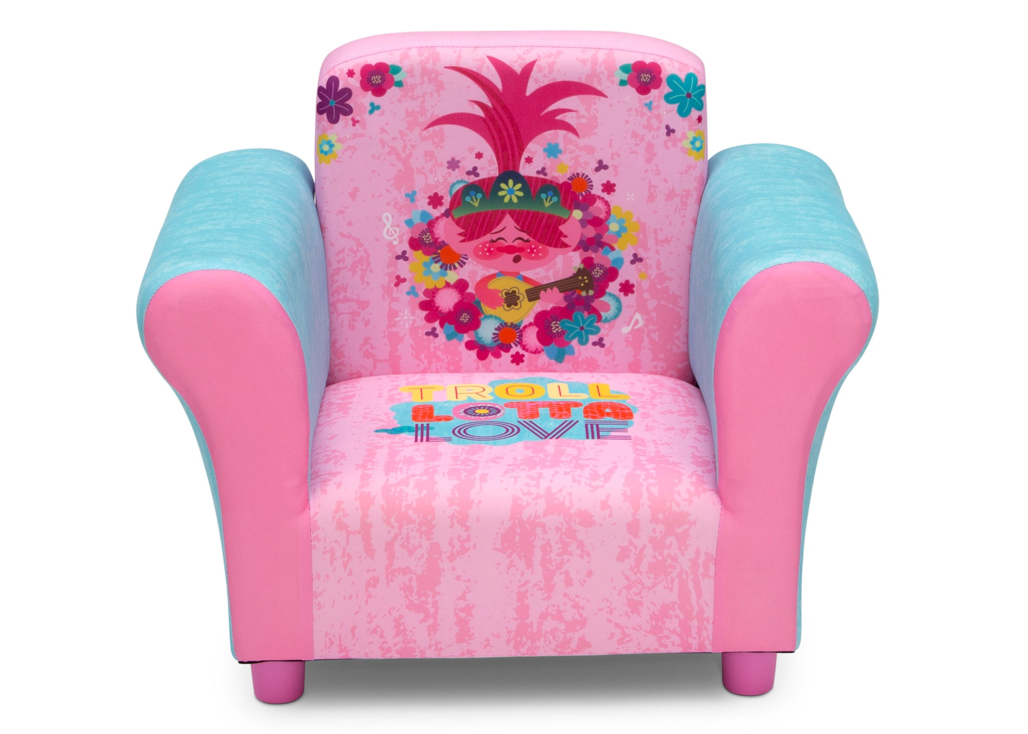 Delta Children Trolls World Tour (1177) Upholstered Chair, Front Silo View