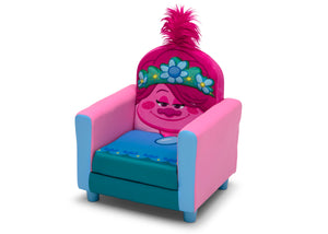 Delta Children Trolls World Tour Poppy Figural Upholstered Kids Chair, Left Silo View Trolls World Tour (1177) UP83741TR-1177