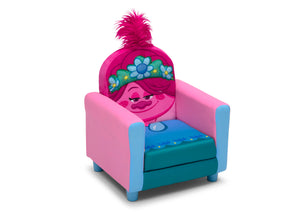 Delta Children Trolls World Tour Poppy Figural Upholstered Kids Chair, Right Silo View Trolls World Tour (1177) UP83741TR-1177